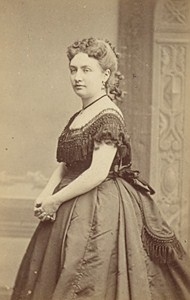 Miss Marimon French Actress Second Empire Old Photo CDV Reutlinger 1868