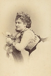 Berthe Legrand French Actress Second Empire Old Photo CDV Reutlinger 1868