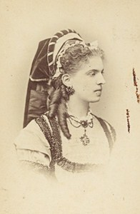 Berthe Mariani French Actress Second Empire Old Photo CDV Reutlinger 1868