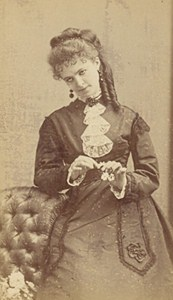 Lucie Abel French Actress Second Empire Old Photo CDV Disderi 1868