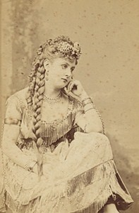Miss Latour French Actress Second Empire Old Photo CDV Lejeune 1868