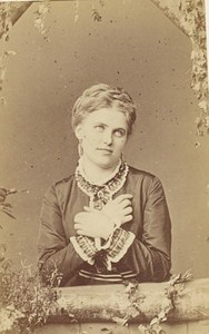 Christine Nilsson Opera Singer France Second Empire Old Photo CDV 1868