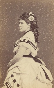 Marie Gabrielle Krauss Opera Singer France Second Empire Old Photo CDV 1868