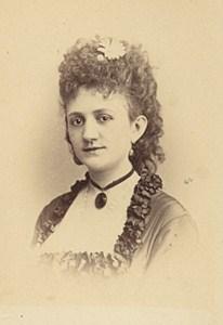 Miss Priolat Opera Singer France Second Empire Old Photo CDV 1868