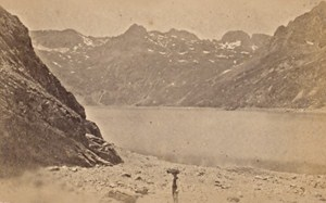 Savoie Lac Bleu France Old Photo CDV 1870