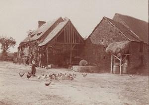 Bagnoles de l Orne Spa Town Farm Scene Snapshot Instantaneous Photo 1900