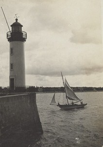 Royan Lighthouse Scene Snapshot Photo Instantaneous 1900