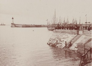 Royan Harbour Scene Snapshot Photo Instantaneous 1900