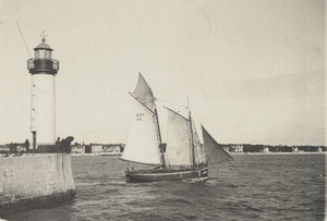Royan Harbour Boat Scene Snapshot Photo Instantaneous 1900