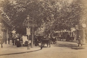 Boulevard des Italiens Cirque d'Ete Paris Street Life Old Animated Photo 1885