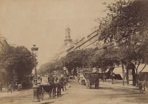 Boulevards des Italiens Paris Street Life Old Animated Instantaneous Photo 1885