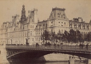 City Hall Paris Street Life Old Animated Instantaneous Photo 1885