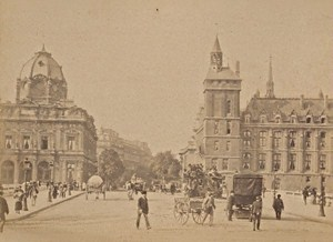 Palais de Justice Paris Street Life Old Animated Instantaneous Photo 1885