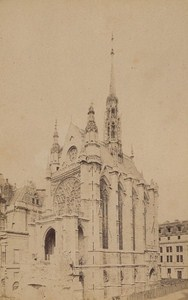 La Sainte Chapelle Paris Street Life Old Instantaneous Photo 1885