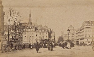 Place Saint Michel Paris Street Life Old Animated Instantaneous Photo 1885