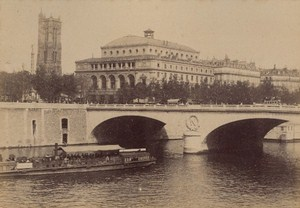 Pont au Change Paris Street Life Old Animated Instantaneous Photo 1885