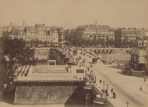 The Pont Neuf Paris Street Life Old Animated Instantaneous Photo 1885