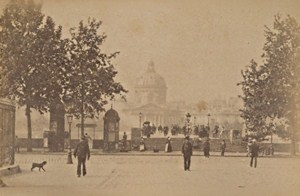 Pont des Arts Paris Street Life Old Animated Instantaneous Photo 1885