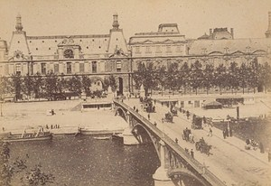 Pont des Saint Peres Paris Street Life Old Animated Instantaneous Photo 1885