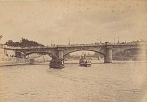 Pont de la Concorde Paris Street Life Old Instantaneous Photo 1885