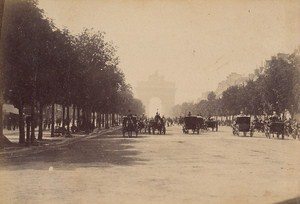 Les Champs Elysees Paris Street Life Old Animated Instantaneous Photo 1885