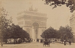 Arc de Triomphe de l Etoile Paris Street Life Old Instantaneous Photo 1885