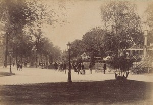 Les Champs Elysees Paris Street Life Old Instantaneous Photo 1885