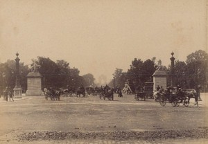 Avenue des Champs Elysees Paris Street Life Old Instantaneous Photo 1885