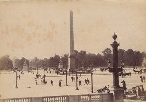 Place de la Concorde Paris Street Life Old Animated Instantaneous Photo 1885