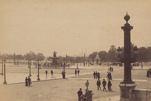 Place de la Concorde Paris Street Life Old Instantaneous Photo 1885