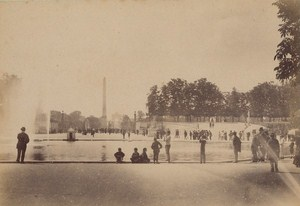Jardin des Tuileries Paris Street Life Old Instantaneous Photo 1885