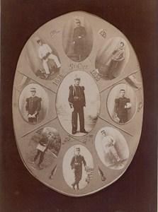 Paris Saint Cyr L'Ecole Military School Photomontage Old Photo 1898