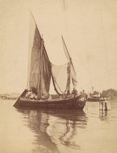 Boat Alexandria Harbour Old Photo 1900