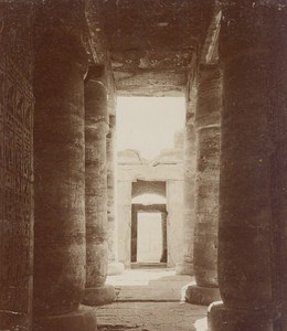 Egyptology Karnak Temple Ruins Egypt Old Photo 1900