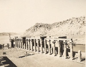 Egyptology Philae Nektanebos Gantry Old Photo 1900