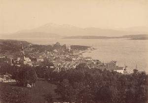 Molde Arctic Circle Norwegian landscape Two Old Photos 1890