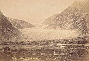 Jostedal Glacier Norwegian landscape Old Photo 1890