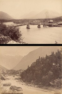 Romsdalen Country Norwegian landscape Two Old Photos 1890