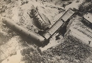 Canada Railway Accident Disaster Train Torrent Old Photo 1938