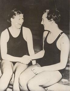 Wembley Danish Swimmer Ragnhild Hveger World Record Old Photo 1938