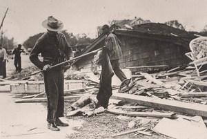 USA Hurricane Disaster Men at Work Old Photo October 1938