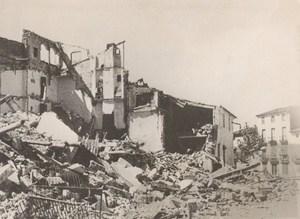 Spain War Around Barcelona Destruction Old Photo 1938