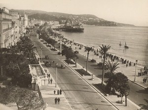 France Nice Promenade des Anglais Old Photo 1930