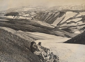 Iceland Glaciers Panorama Old Photo 1950