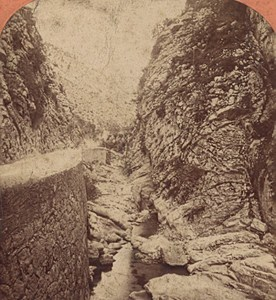 Nice Torrent de Saint André France Old Stereo Photo Lucchesi 1880