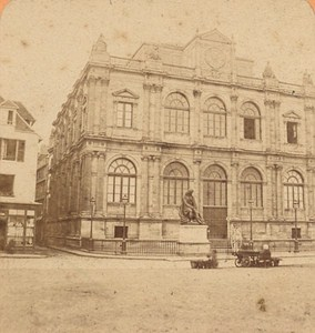 Le Havre Museum Library France Old Stereo Photo Block 1880