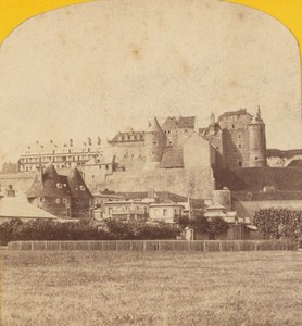 Dieppe Old Castle France Old Stereo Photo Neurdein 1870