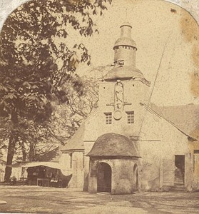 Honfleur Notre Dame de Grace Chapel Old Stereo Photo Brechet 1870