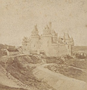 Pierrefonds Castle Old Stereo Photo Dupre 1870