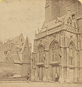 Bruges Porch of the Cathedral Belgium Old Stereo Photo Leon & Levy 1880